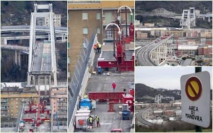 Genova,  inizia la demolizione del Ponte Morandi. FOTO