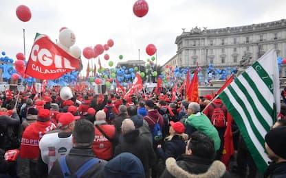 Sindacati, a Roma la manifestazione unitaria. FOTO