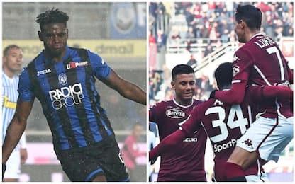 Serie A, vincono in casa l'Atalanta e il Torino: gol e highlights