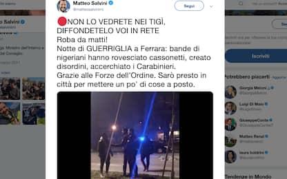 Ferrara, rivolta in strada di un gruppo di migranti