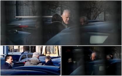 Roberto Formigoni entra nel carcere di Bollate. FOTO