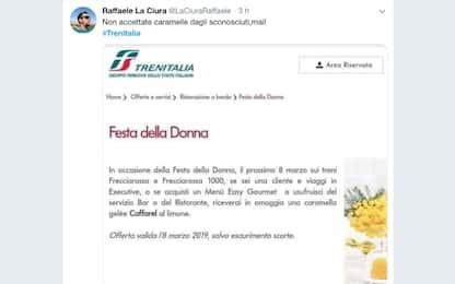 Trenitalia regala caramella per Festa Donna: ironia sul web