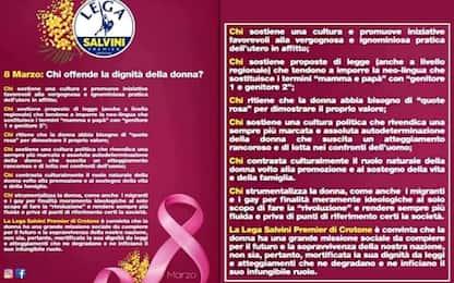 """8 marzo, Lega Crotone: """"Il ruolo naturale della donna è in famiglia"""""""