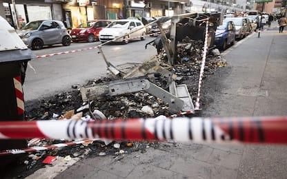 Capodanno a Palermo, molti i cassonetti andati in fiamme