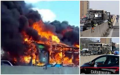 Autobus in fiamme a Milano, cosa è successo nei 50 minuti di terrore