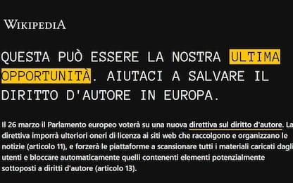 Wikipedia oscura le pagine italiane prima del voto sul Copyright