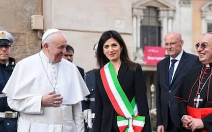 Visita del Papa in Campidoglio, incontro con Virginia Raggi