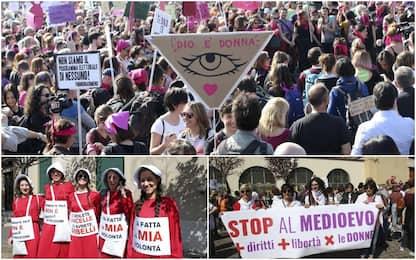 Congresso famiglie, il corteo femminista a Verona. FOTO