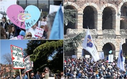 Corteo del Congresso delle famiglie: in 10mila a Verona