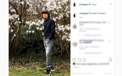 Mick Jagger, foto su Instagram dopo l'operazione al cuore