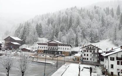 Neve sulle Dolomiti, Falcade imbiancata a fine aprile. FOTO