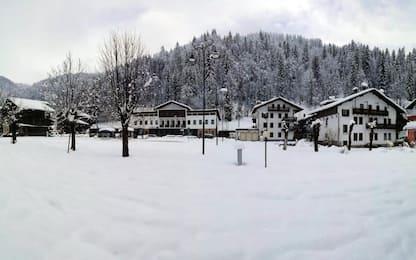 Meteo, neve sulle Dolomiti fino a 80 cm. FOTO