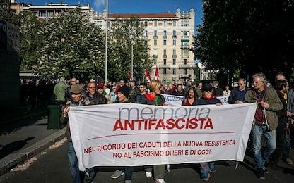 Milano, presidio Anpi e Memoria Antifascista in piazzale Dateo