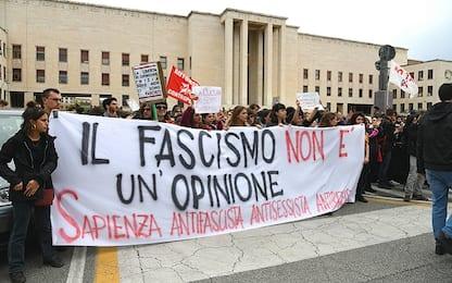 Roma, Lucano a La Sapienza: corteo antifascista contro Forza Nuova