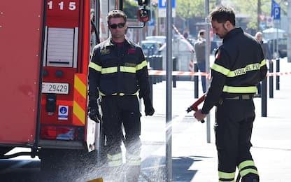 Messina, autobus in fiamme sulla A20: illeso l'autista