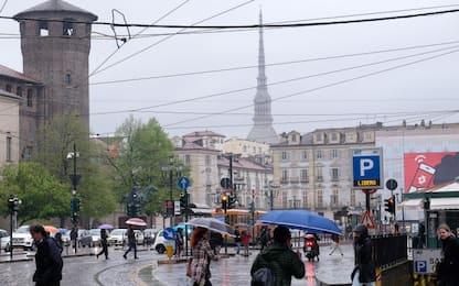 Maltempo a Torino, cedono le fognature sotto Parco Dora