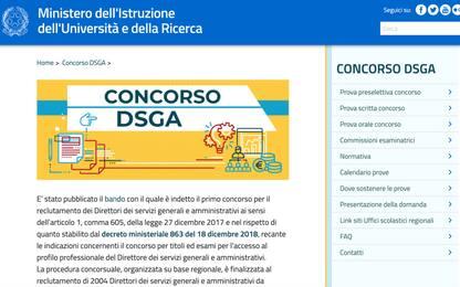 Concorso Dsga, online la banca dati del Miur con i 4.000 quesiti