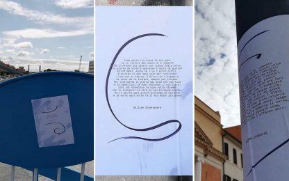 """Contro le svastiche, Fiumicino """"invasa"""" da sonetti: FOTO"""
