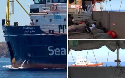 Sea Watch prova a entrare nel porto di Lampedusa, bloccata