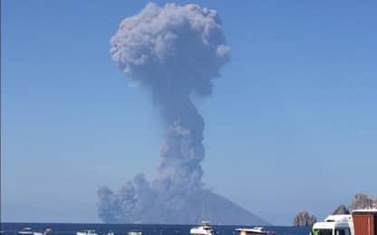 Eruzione dello Stromboli, le immagini del vulcano. VIDEO