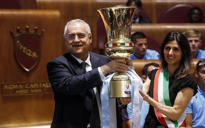 """Roma, Lazio premiata in Campidoglio. Raggi: """"L'orgoglio della città"""""""