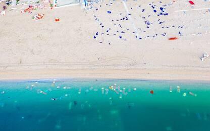Maltempo Marche, la spiaggia di Numana distrutta vista dal drone