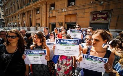 """Campania, la protesta dei navigator: """"Fateci lavorare"""". FOTO"""