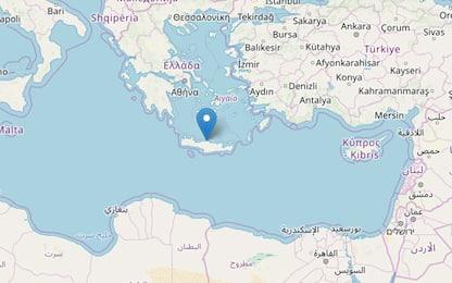Terremoto, scossa di magnitudo 5.2 a Creta