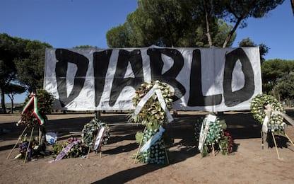 Piscitelli, al Divino Amore i funerali dell'ultras della Lazio