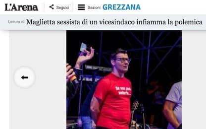 Maglia sessista del vicesindaco leghista nel Veronese: è polemica