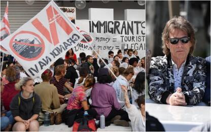 Mostra Venezia, attivisti No Grandi Navi occupano red carpet
