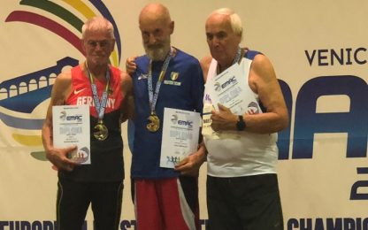 Editore milanese vince il bronzo agli Europei di corsa over 85