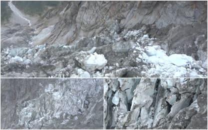Allerta ghiacciaio Monte Bianco: il fronte accelera a 90 cm al giorno