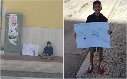 Sciopero clima, il 12enne Potito manifesta da solo a Stornarella