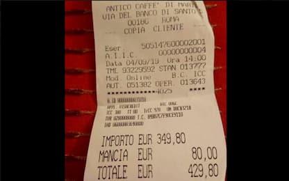 Roma, chiuso e poi riaperto il locale dello scontrino da 430 euro
