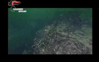 Trovata nel Lago d'Iseo una montagna di rifiuti alta 40 metri. VIDEO