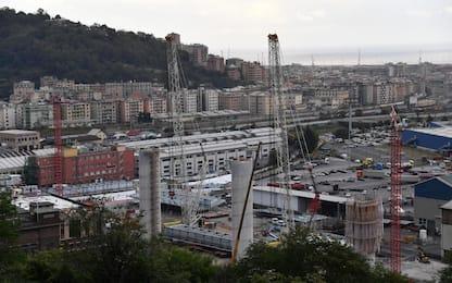 Genova, posato primo impalcato, nasce il nuovo ponte