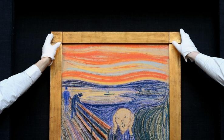 """Sotto """"L'Urlo"""" di Munch scoperta una scritta segreta del pittore"""