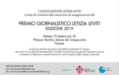 Letizia Leviti, a Firenze il premio intitolato a giornalista Sky TG24