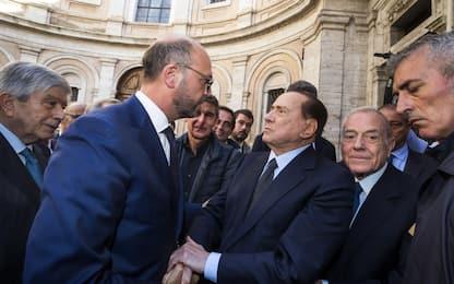 A Roma i funerali di Bonaiuti. Presente anche Berlusconi
