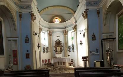 Crollata la volta di una chiesa nel Pavese a causa del maltempo