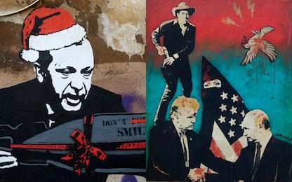 Ecco i murales politici in Italia nel 2018-2019. FOTO