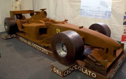 Una Ferrari di cioccolato per Michael Schumacher. FOTO