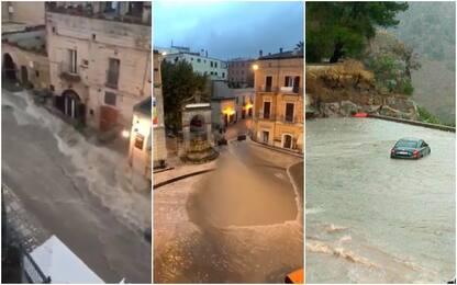 Maltempo, nubifragio a Matera: acqua invade la città dei Sassi. VIDEO