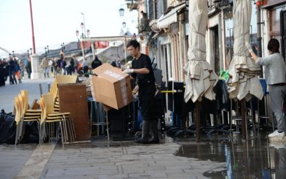 Acqua alta Venezia, governo stanzia 20 mln di euro per soccorsi