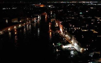 Acqua alta a Venezia, le immagini dal drone. FOTO