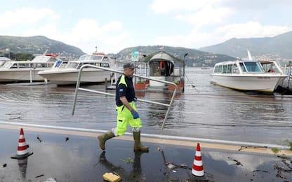 Maltempo, forti piogge: sale il livello del lago di Como