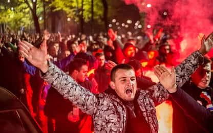 Milano, ultras Dinamo Zagabria in corteo. Feriti 5 tifosi Atalanta