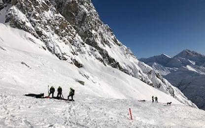 Valanga sul Monte Bianco, morti due sciatori