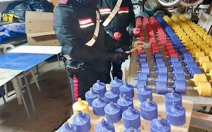 Pompei, scoperti 616 ordigni artigianali in garage: arrestato 30enne